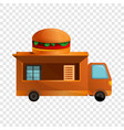 burger truck icon cartoon style vector image vector image
