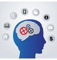 Business icons in my mind - vector image vector image