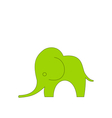 cartoon child elephant isolated vector image