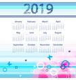 colorful calendar design vector image vector image