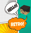 comic template element with speech bubble and vector image vector image