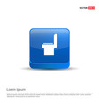 commode toilet icon - 3d blue button vector image