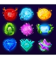Computer Game Magic Gems Set vector image