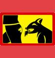 danger sign beware dog vector image