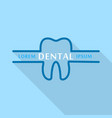 dental company logo icon flat style vector image vector image