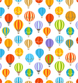 Different colorful air balloons seamless vector image vector image