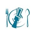 Dinnertime table setting vector image vector image