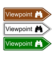 Direction sign viewpoint vector image vector image