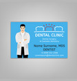 doctor id card vector image vector image