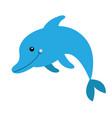 dolphin icon aquarium zoo sea ocean animal cute vector image