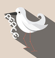 Dove Bird with Paper Peace Title vector image