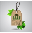 eco friendly paper template banner vector image vector image