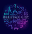 electric car round colorful vector image