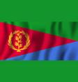 eritrea realistic waving flag national country vector image vector image