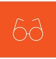 Eyeglasses line icon vector image