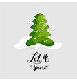 fir tree and snow vector image vector image