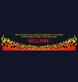 fire flames background element vector image