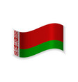 flag of the republic of belarus vector image