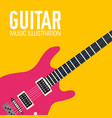 flat electric guitar poster background vector image
