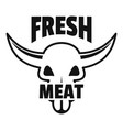 fresh meat logo simple style vector image vector image