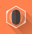Gaming Gear Flat Icon Mouse vector image