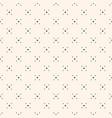 geometric seamless pattern with tiny diamond vector image vector image