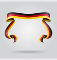 german flag wavy ribon background vector image