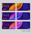 gift coupon discount card template with abstract vector image