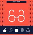 glasses symbol - search icon vector image vector image