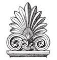 greek sepulchral stele-crest borders vintage vector image vector image