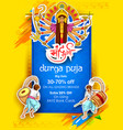 Happy dussehra sale offer background with hindi