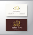 horse club league abstract logo and vector image