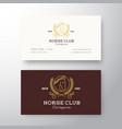 horse club league abstract logo vector image
