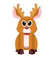 isolated cute reindeer vector image vector image