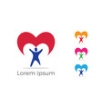 kids care logo charity orphans donation vector image vector image