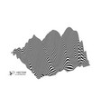 landscape background terrain black white 3d vector image vector image