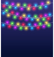 light garlands background christmas party glowing vector image vector image