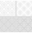 Light seamless damask pattern vector image