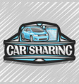logo for car sharing vector image