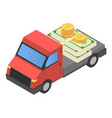 money truck icon isometric style vector image