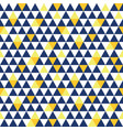 navy blue and yellow triangle texture vector image vector image