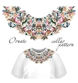 Neck print floral design Fashion white vector image vector image