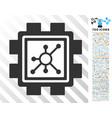 nodes mining pool flat icon with bonus vector image vector image