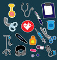 nursing kit template for stickers with outline vector image