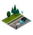 parking isometric concept vector image