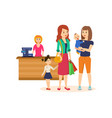 people at grocery store purchased merchandise and vector image vector image