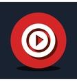 play button design vector image