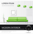 realistic living room interior concept vector image vector image
