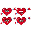 red heart with arrows vector image vector image