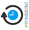 Repeat Clock Flat Icon with Bonus vector image vector image
